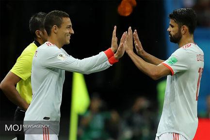دیدار تیم های ایران و اسپانیا