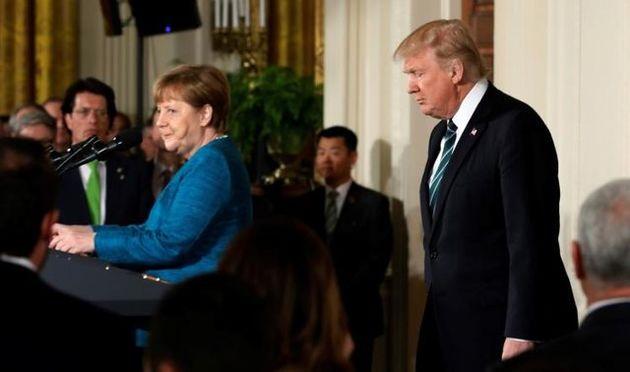 ترامپ با مرکل دست نداد