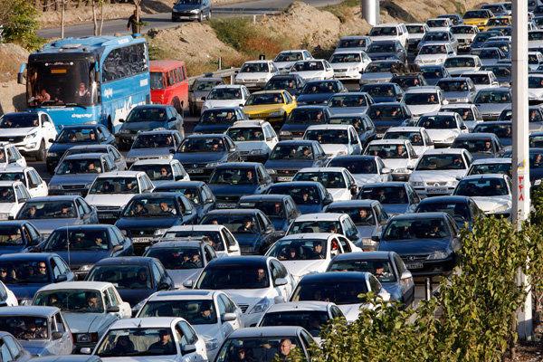 وضعیت ترافیکی بزرگراه های تهران در 28 فروردین