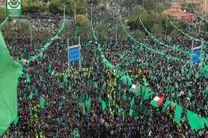 هزاران فلسطینی در جشن ۳۰ سالگی حماس حاضر شدند