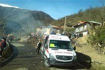 آتش سوزی مرگبار در در منطقه کوهستانی شفت