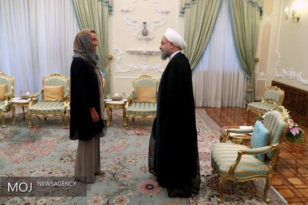 تاکید موگرینی بر ادامه تعهد به برجام در سفرش به ایران