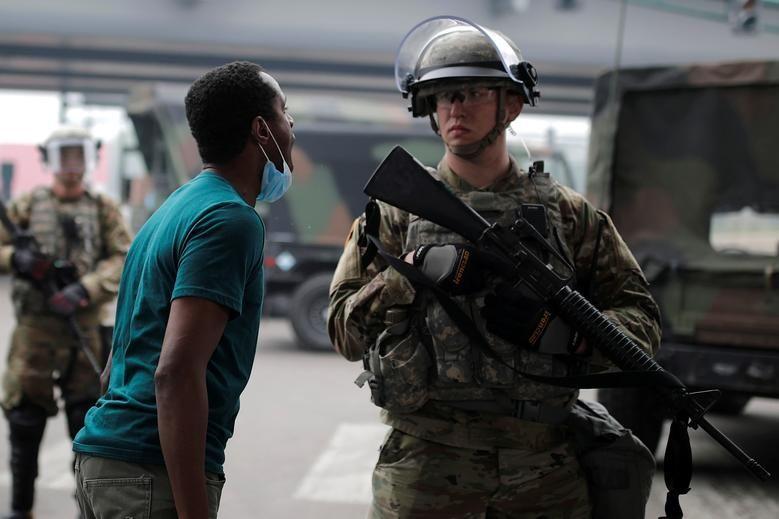شمار بازداشتیهای اعتراضات آمریکا به ۴۱۰۰ نفر رسید