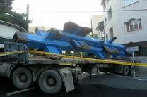 حاثه آفرینی یک دستگاه تریلر در خیابان فرمانیه