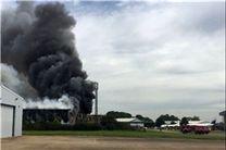 صدای انفجار در فرودگاهی در شهر لندن انگلیس شنیده شد
