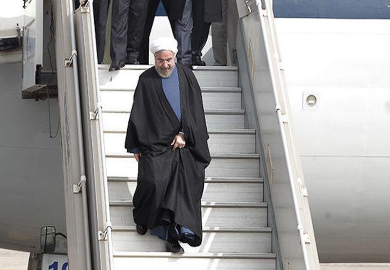 روحانی وارد استان خوزستان شد