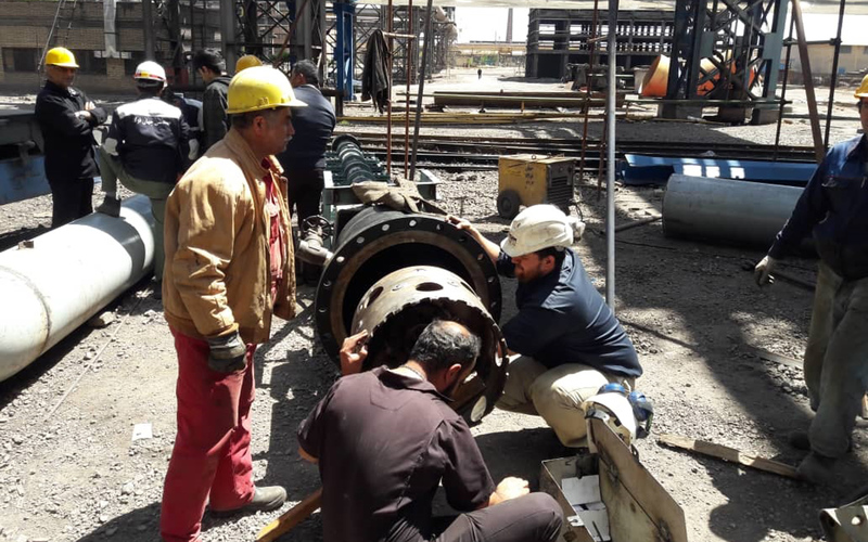 عملیات Hot Tap  بر روی خطوط اصلی سیالات کارخانه انجام گرفت