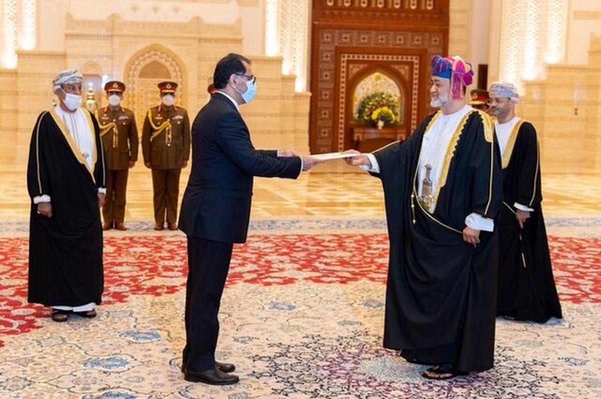 سفیر ایران در عمان استوارنامه خود را تقدیم پادشاه عمان کرد