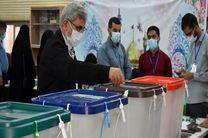 سردار قاآنی رای خود را به صندوق آرا انداخت