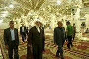 بازدید رئیس دفتر مقام معظم رهبری از صحن حضرت زهرا (س) در نجف