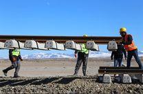 ریل گذاری راه آهن اردبیل از سمت میانه آغاز شده است