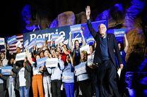 برنی سندرز پیروز رقابت درون حزبی دموکراتها در نوادا شد