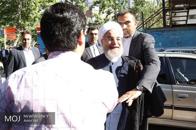 رئیس جمهور در وزارت کشور حضور یافت