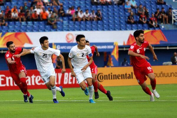 نتیجه بازی تیم ملی فوتبال امید ایران و کره جنوبی در نیمه نخست
