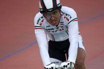مدال نقره دانشور در اسپرینت دوچرخه سواری