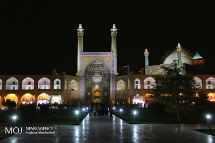 نمایی از میدان امام اصفهان در ایام نوروز