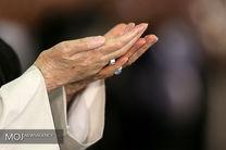 اقامه نماز از سوی رهبر انقلاب بر پیکر آیت الله هاشمی شاهرودی