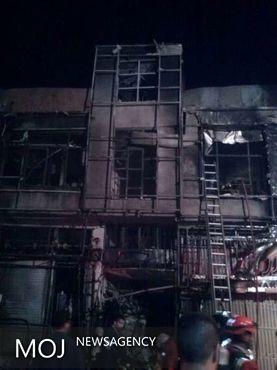 انفجار و آتش سوزی شبانگاهی در خیابان پیروزی
