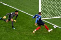 نتیجه نیمه اول بازی فرانسه پرو با پیروزی فرانسه پایان یافت