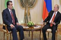 پوتین در دوشنبه با رحمان دیدار کرد