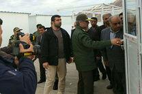 بازدید وزیر دفاع و پشتیبانی نیروهای مسلح از مناطق زلزلهزده سرپل ذهاب