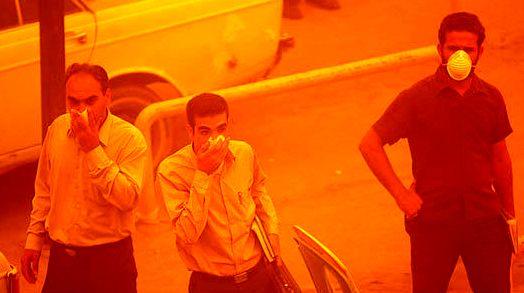 پیش بینی وزش باد و وقوع گرد و خاک در خوزستان