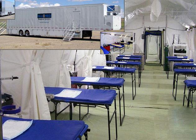 درمانگاه صحرایی شبانه روزی در چذابه