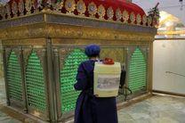 بقاع متبرکه در اصفهان ضدعفونی شد