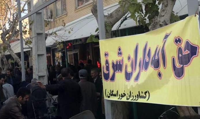 تجمع کشاورزان شرق اصفهان در مسجد گلزار خوراسگان