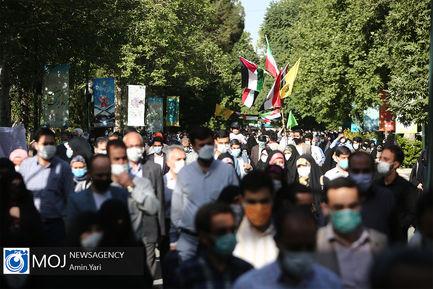 راهپیمایی نمازگزاران تهرانی در حمایت از مردم مظلوم فلسطین