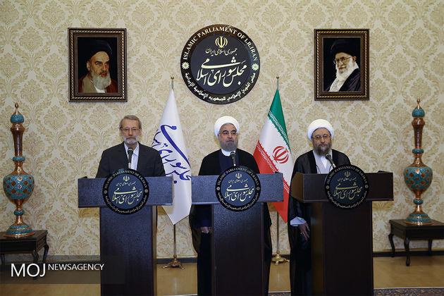 لاریجانی: حضور کشورهای خارجی پشتوانه بسیار خوبی برای دولت است