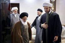 دیدار نماینده رهبرى با شیخ اکرم الکعبی در مقر مرکزى نُجَباء