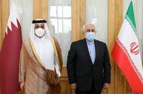 دیدار و گفتگو  وزیر امور خارجه قطر با ظریف در تهران