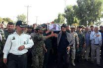 پیکر شهید عملیات مینروبی در قصرشیرین تشییع شد