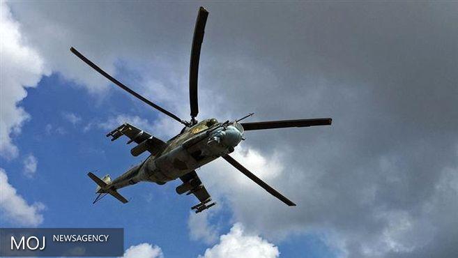انهدام مواضع تروریست ها توسط بالگردهای ارتش سوریه