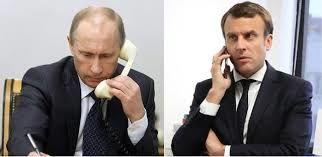 گفتگوی تلفنی روسای جمهوری فرانسه و روسیه