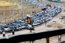 ترافیک سنگین محورهای کرج چالوس و هراز/ خیابانهای کرج هم قفل شد