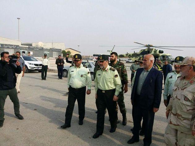 حضور فرمانده ناجا در مرز چذابه