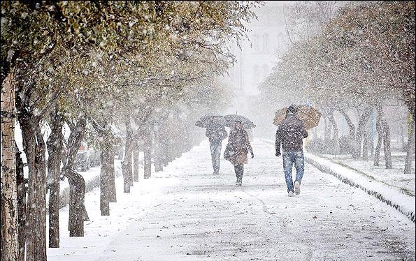 بارش برف مناطق غربی استان اصفهان را سفید پوش می کند