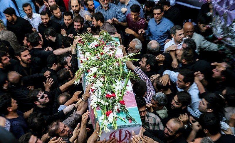 تشییع پیکر پنج شهید مدافع حرم در قم