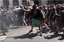 معترضان به لغو مصونیت نمایندگان مخالف در پارلمان اوکراین، با نیروهای پلیس درگیر شدند
