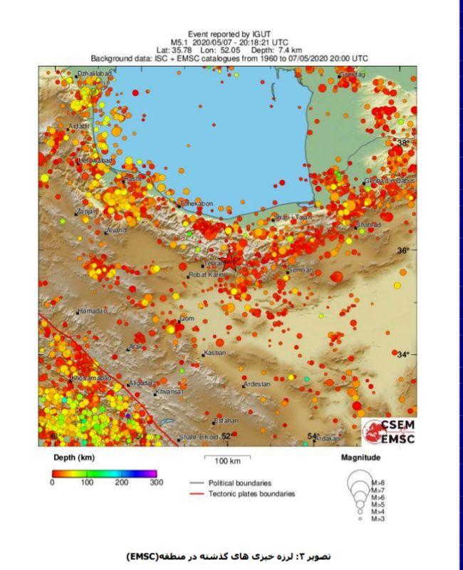 گسلی که منشا زلزله بوده دقیقا از زیر شهر دماوند عبور می کند