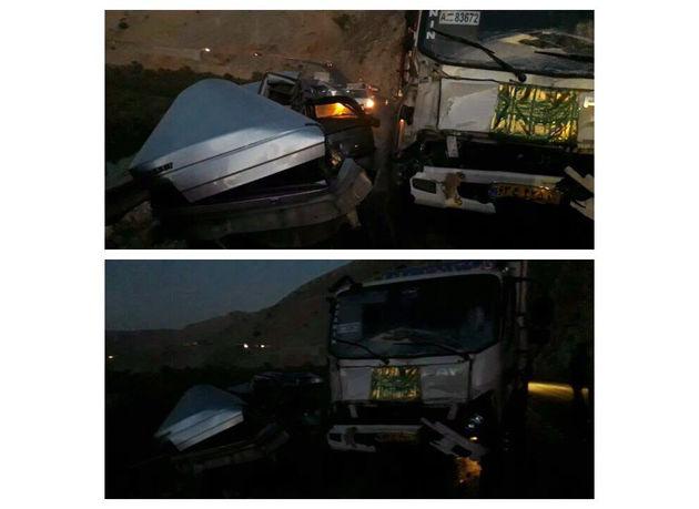 تصادف دو دستگاه خودرو در محور پلدختر-خرمآباد یک کشته بر جای گذاشت