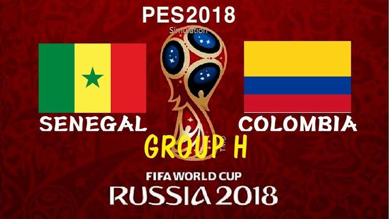 ساعت بازی کلمبیا و سنگال در جام جهانی
