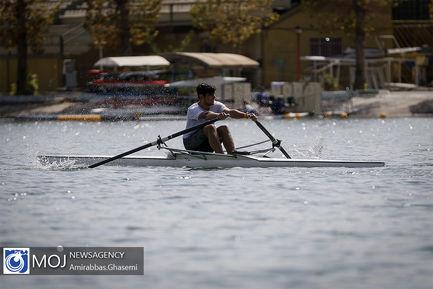 مسابقات قایقرانی روئینگ آقایان قهرمانی کشور