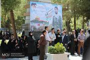 رئیس مجلس در مراسم بزرگداشت شهید حججی حضور یافت