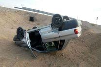 5 مصدوم در اثر واژگونی خودرو پراید در جاده نائین - نیستانک