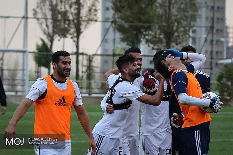 برگزاری تمرین تیم ملی فوتبال با حضور خبرنگاران