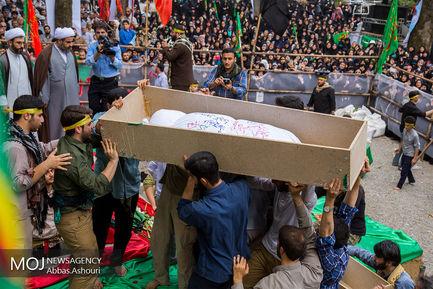 مراسم تشییع و تدفین شهدای گمنام در رشت