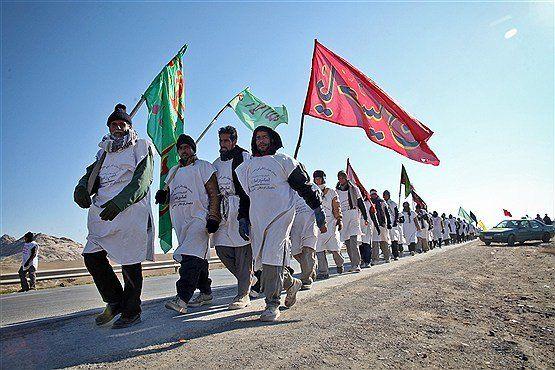 کاروان پیاده «طلاب» و «فعالان فرهنگی» بهبهانی، به حرم مطهر رضوی مشرف شد